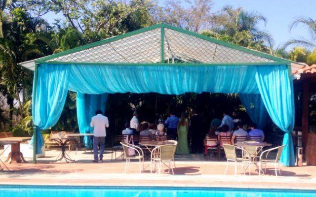 Eventos Sociais em ambiente externo no Hotel Mariá